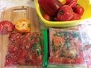 Заморозка помидоров с перцем и зеленью на зиму