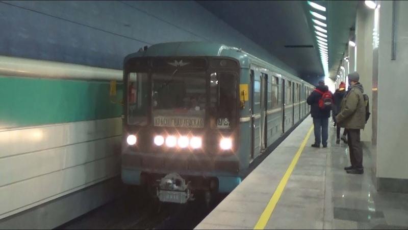 Электропоезд 81-717/714.5 Номерной №38 на станции метро Беломорская