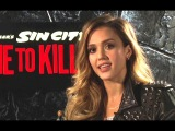 Jessica Alba Interview - Sin City: A Dame to Kill For (2014) Frank Miller Movie HD