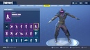 "FORTNITE ""RAVEN"" Skin Showcased with 40+ Dances/Emotes 