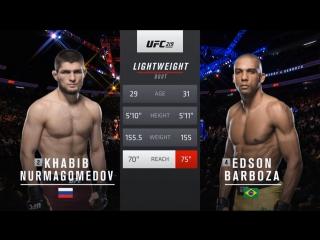 UFC 219 : Хабиб Нурмагомедов — Эдсон Барбоза - Полный бой