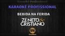 Zé Neto e Cristiano BEBIDA NA FERIDA Karaokê Profissional Versão Vithor Hugo Studios
