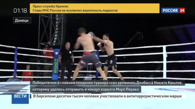 Новости на Россия 24 • В Донецке успешно завершился международный турнир по смешанным единоборствам