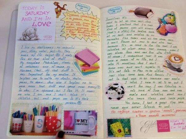 Как оформить дневник для девочек своими руками 801