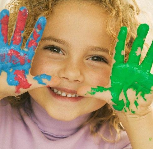 Фото с детьми которые рисуют