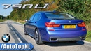 BMW 750Li 4.4 V8 BiTurbo M SPORT EXHAUST Sound Revs TOP SPEED Onboard by AutoTopNL