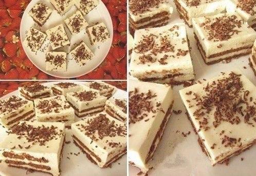 Торт без выпечки Ингредиенты Для «коржей»: ● печенье с какао