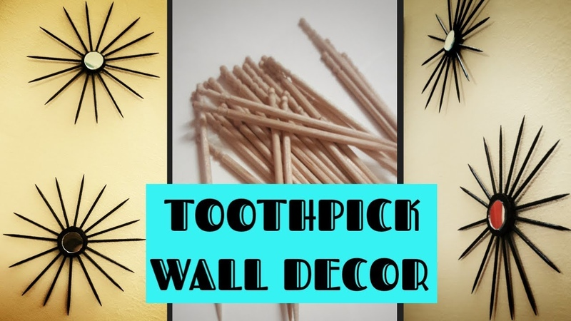 DIY toothpick wall decor|Toothpick craft idea| wall decoration at home | wall hanging craft ideas