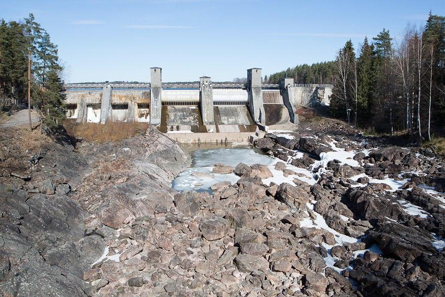 Иматра гидроэлетростанция водопад