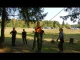 Кадеты на этапе с верёвками
