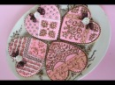 Advanced Cookie Stenciling Using Color/Pattern Blocking Techniques (aka Fancy Heart Cookie)