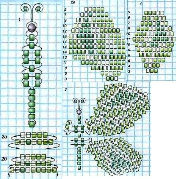 Схема плетения бабочка Махаон