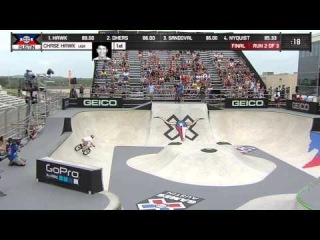 Chase Hawk Wins BMX Park Gold