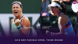 Kiki Bertens vs. Johanna Konta 2019 BNP Paribas Open Third Round WTA Highlights