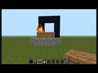 Minecraft: Как зажечь портал в ад без огнива? Тутор. #5