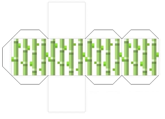 Майнкрафт из бумаги схемы