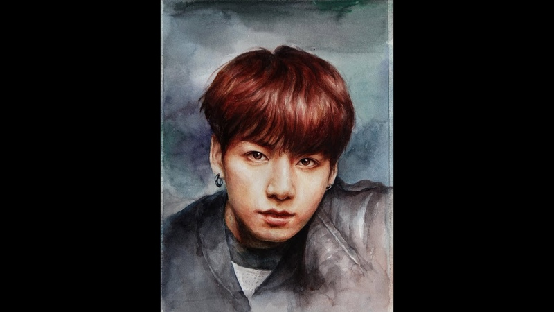 Watercolor Portrait speed painting – BTS 정국(Jungkook)