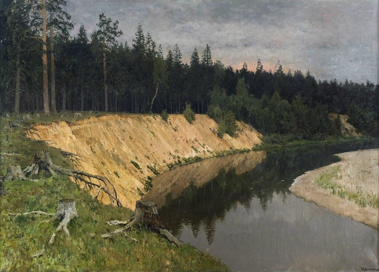 Картинки по запросу левитан лесистый берег картина