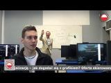 Taniec za studentami - PJWSTK lecturers dancing behind students