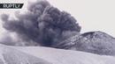 Извержения вулкана на горнолыжном курорте Piano Provenzana