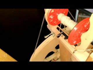 тест драйв пластиковой катушки на прялку Ashford