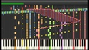Synthesia Vocaloid - Heat Haze Days 140,000 Notes Kagerou Project Black MIDI