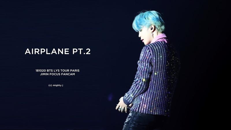 181020 BTS LOVE YOURSELF TOUR PARIS - AIRPLANE PT.2 JIMIN FOCUS FANCAM 지민 직캠 (4K)