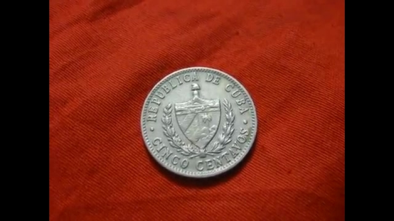 монета 5 центаво сентаво 1961 Куба нумизматика
