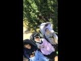 Криштиану на прогулке с семьей