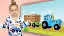 Танцы под ЕДЕТ ТРАКТОР - Полина и Синий трактор - Видео для детей малышей