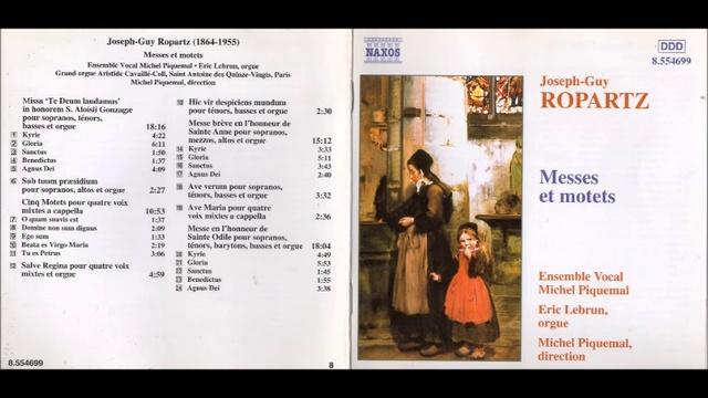 J G Ropartz Messe breve en l honneur de Sainte Anne 1921