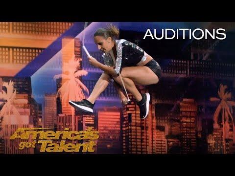 Vivien Vajda Extreme Jump Roper Delivers Brilliant Performance America's Got Talent 2018