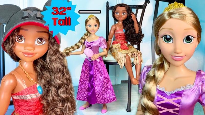 Rapunzel Moana HUGE 32' INCHES TALL Disney Dolls by Jakks Pacific REVIEW