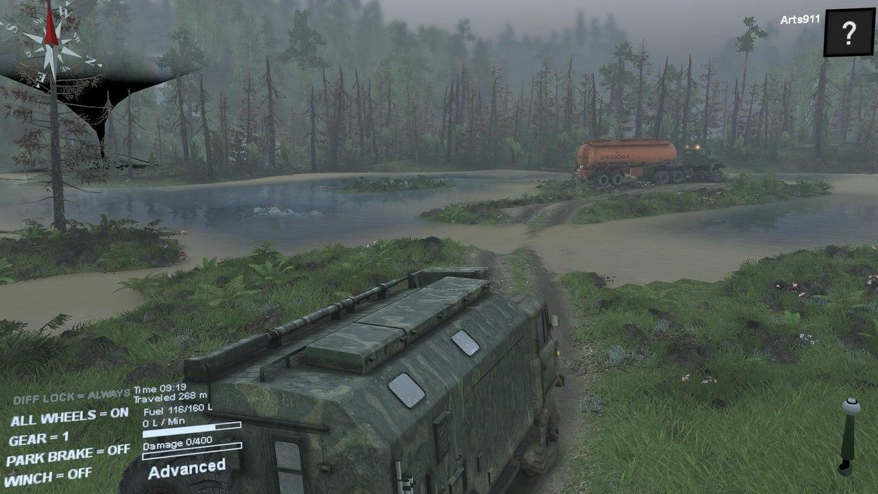 """Карта """"Hilldelivery"""" для 25.12.15 для Spintires - Скриншот 3"""