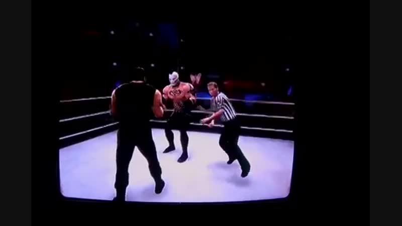 WWE2K14 DeadFace vs Dean Ambrose and Roman Reigns.11DeadFace