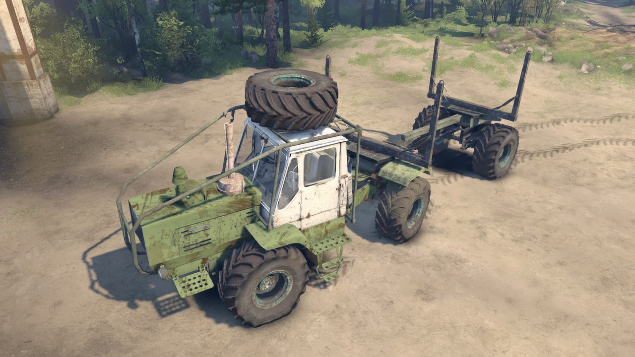 ХТЗ Т-150К Лесовоз для Spintires - Скриншот 3