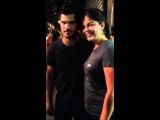 Taylor Lautner on set of Tracers 07/26/13