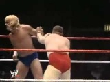 WI Nikolai Volkoff &amp Iron Sheik vs The US Express WWF Wrestlemania I 1985(WWF Tag Team Championship)