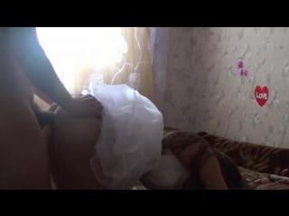 Домашнее порно в свадебном платье, порно моющихся женщин