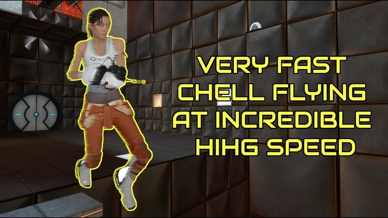 Chell Seems to Understand how Forward Momentum Works in Portal