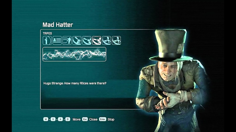 Batman Arkham City, ALL Tapes for Mad Hatter (HD record)