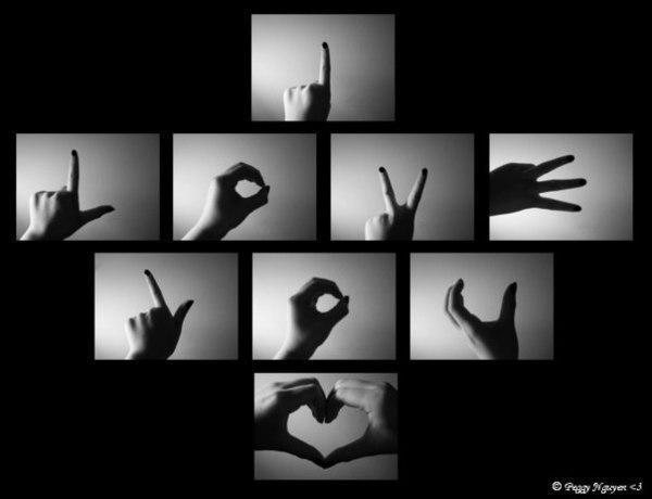 Идея для украшения стены признанием в любви