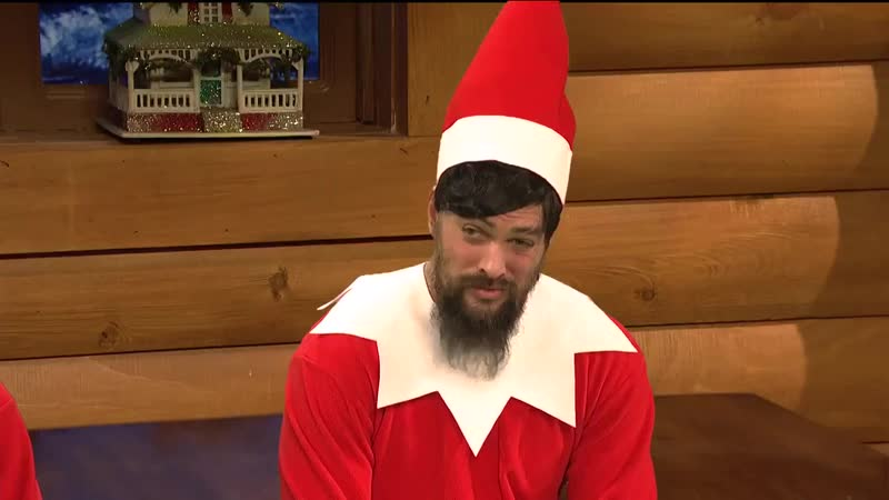 Jason Momoa | SNL - Elf on the Shelf