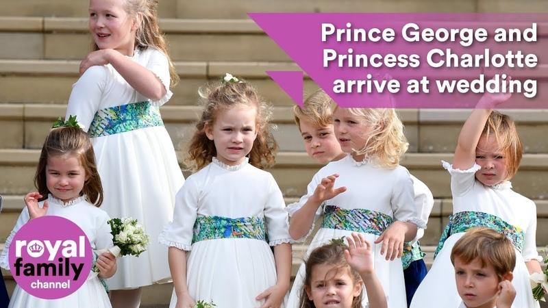 Princess Charlotte and Prince George have arrived at Princess Eugenies royal wedding