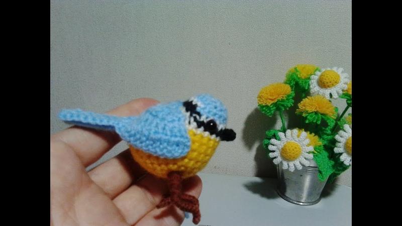Птичка-синичка. Birdie tit. Amigurumi. Crochet. Амигуруми. Игрушки крючком.