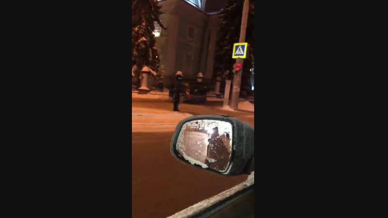 В Белгороде в забор Преображенского храма въехал автомобиль