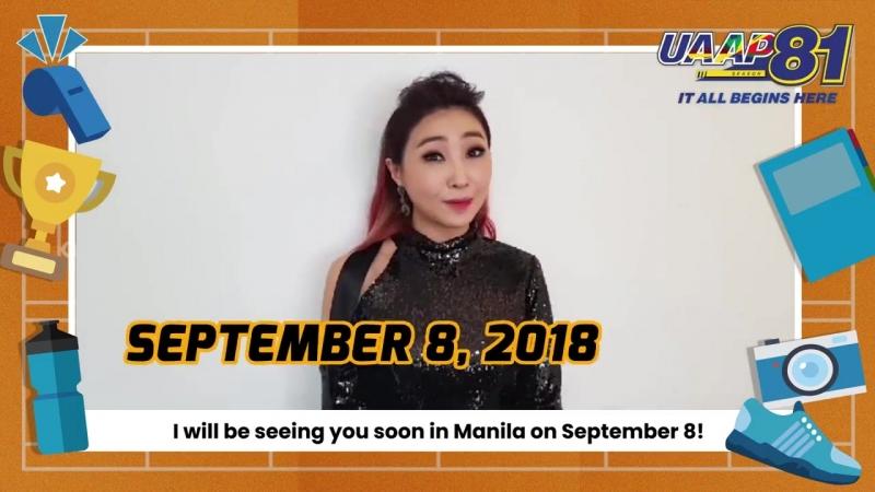 Сообщения Сообщения Минзи для церемонии открытия 81 го сезона UAAP