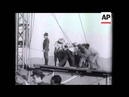 """Atracação do """"Hindenburg"""" no Rio (16 Abril 1936)."""