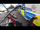 Wheelies next to a police van *risky*