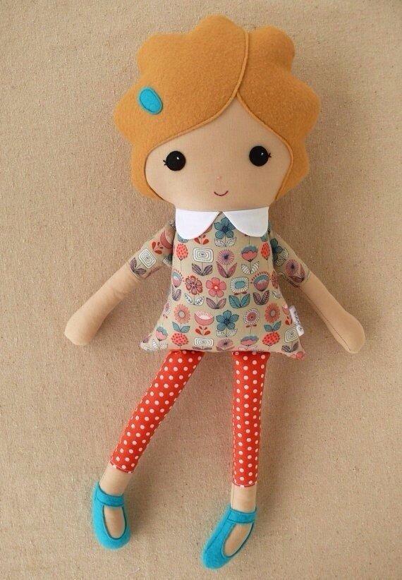 Сшитые куклы из ткани